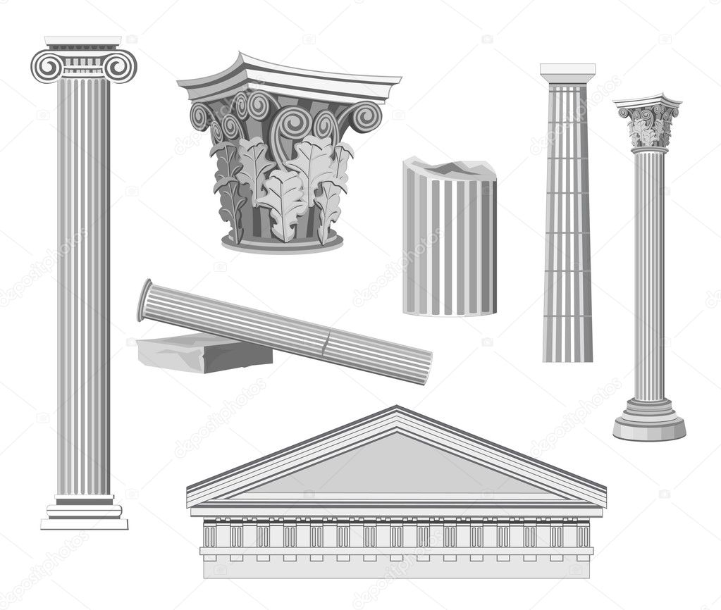 Antique architectural elements stock vector dayzeren for Architecture antique