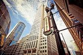 Chicago downtown v divadelní čtvrti