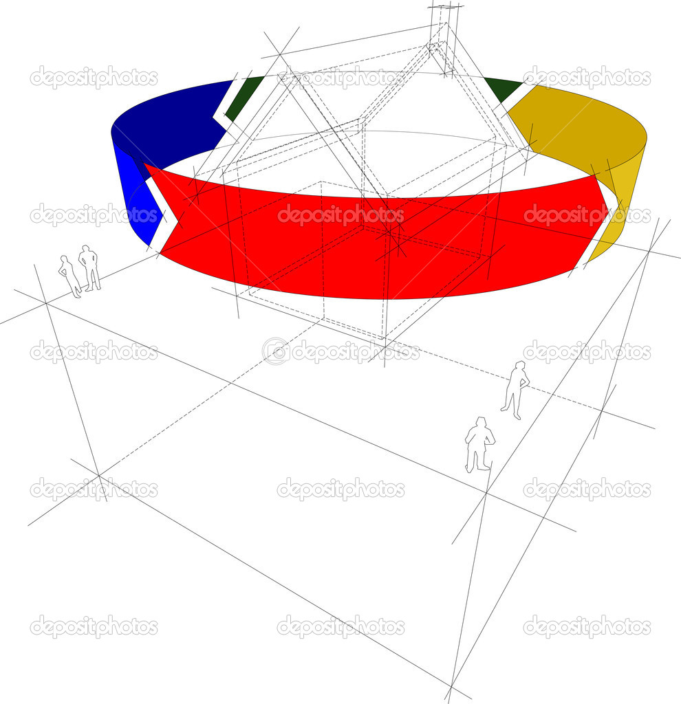 Recycling Haus-Diagramm — Stockvektor © valigursky #8229385