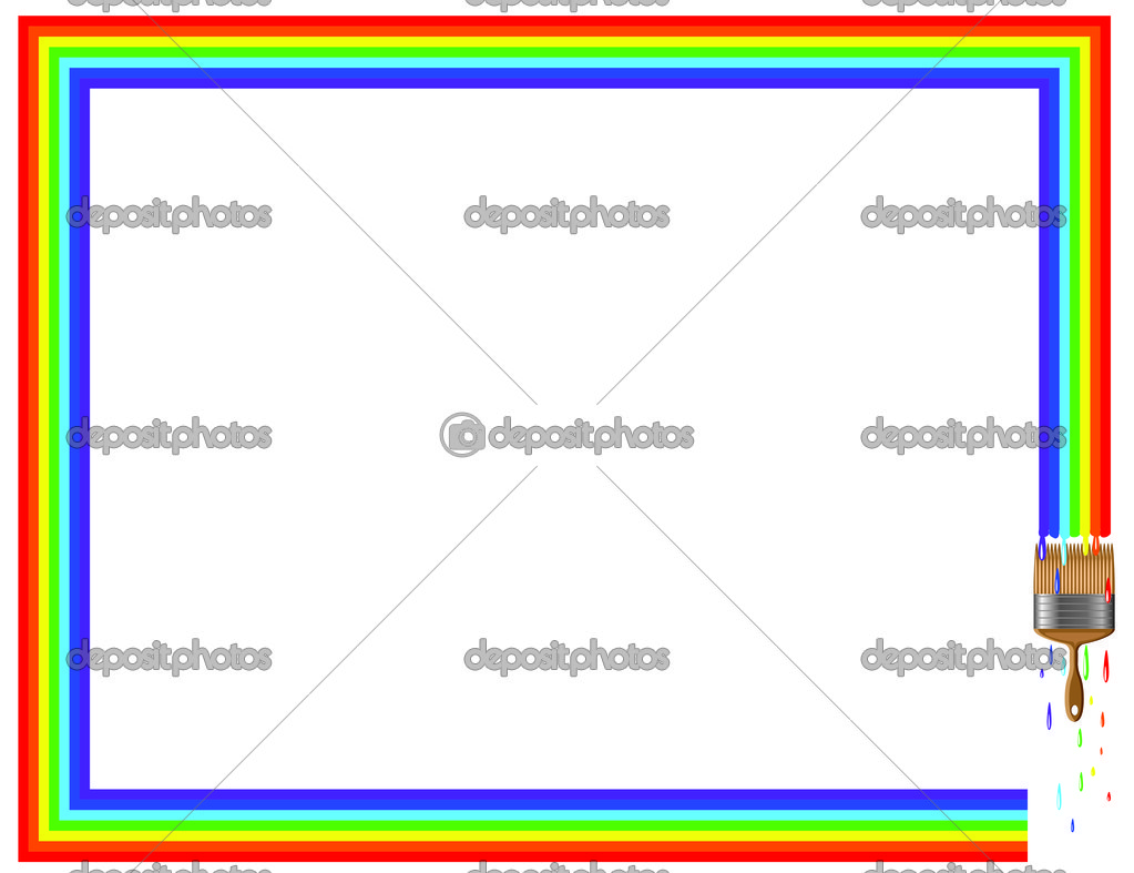 rainbow frame � stock photo 169 olaj775 10159527
