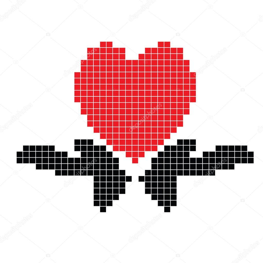 Coeur Dans La Main Pixel Photographie Olaj775 8001942