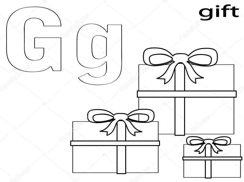 alfabeto para colorear para niños g — Foto de stock © Olaj775 #8741715