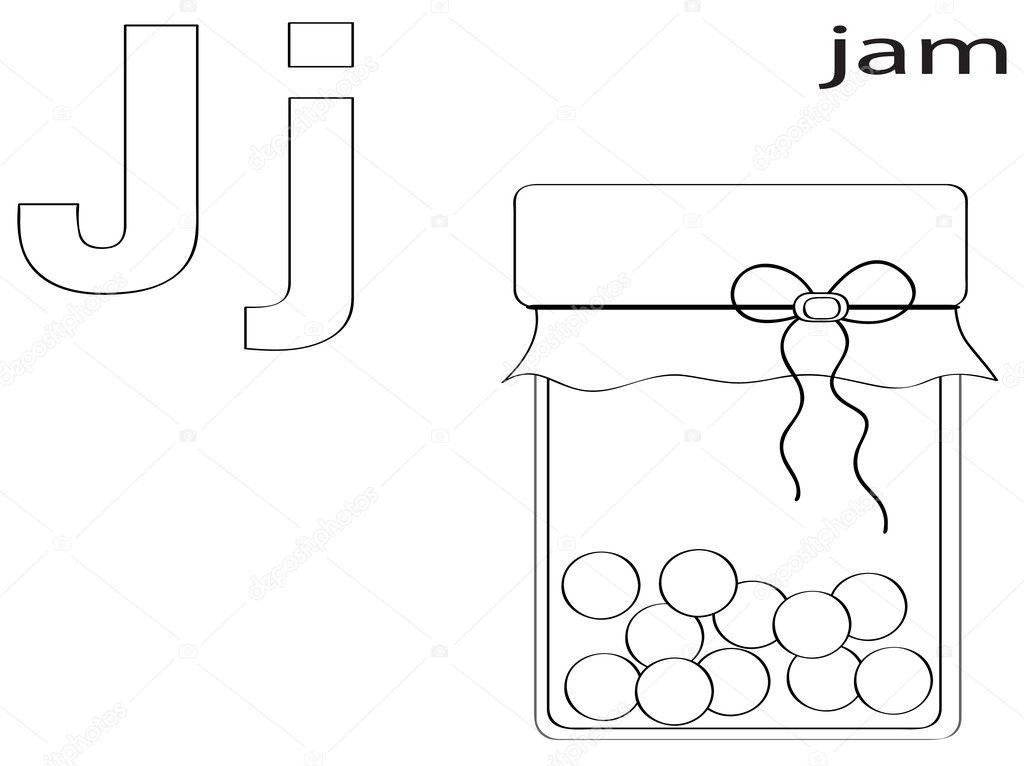 colorear alfabeto para niños, j — Foto de stock © Olaj775 #8741768