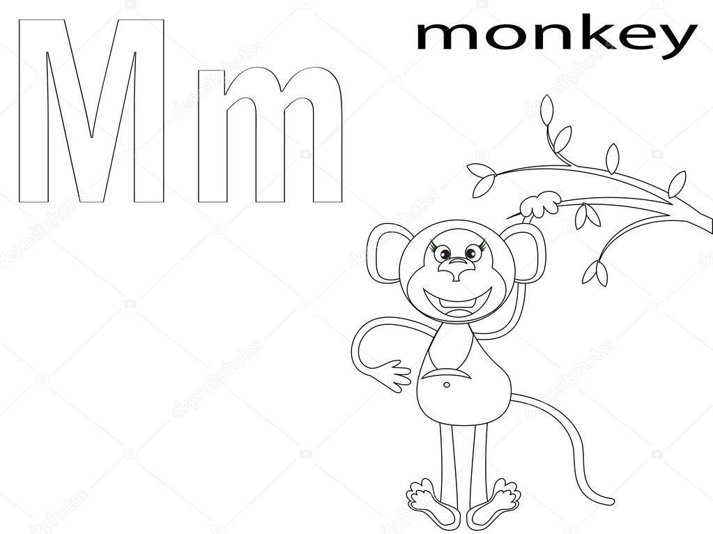 colorear alfabeto para niños, m — Fotos de Stock © Olaj775 #8741844