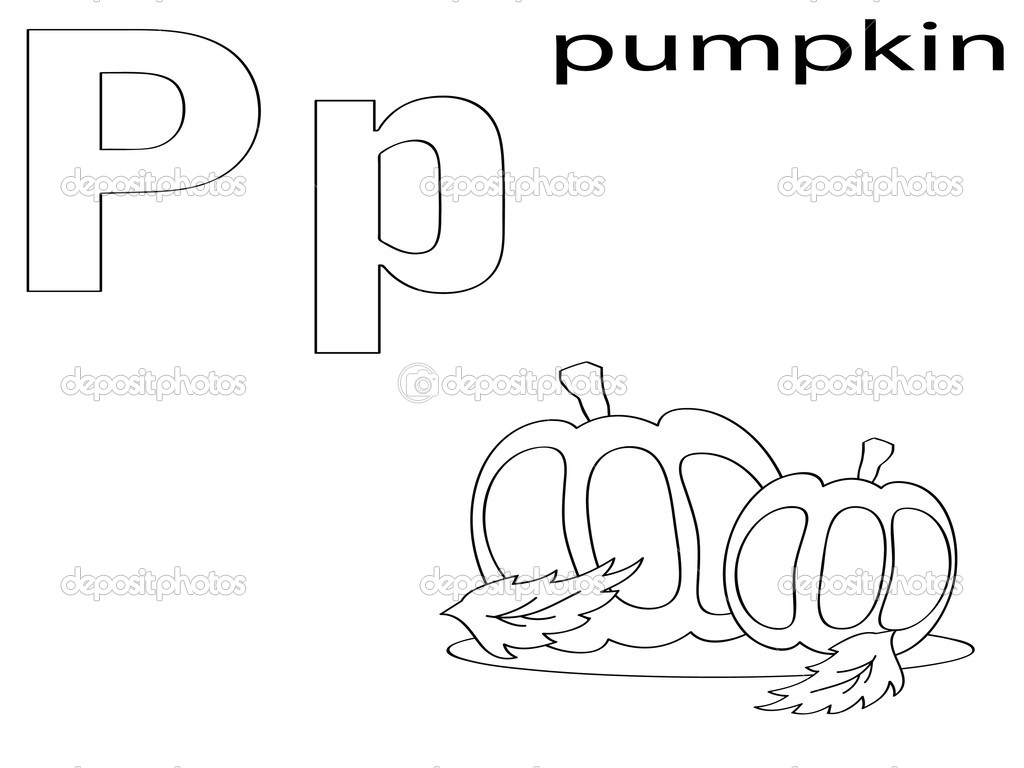 alfabeto para colorear para niños, p — Fotos de Stock © Olaj775 #8741913