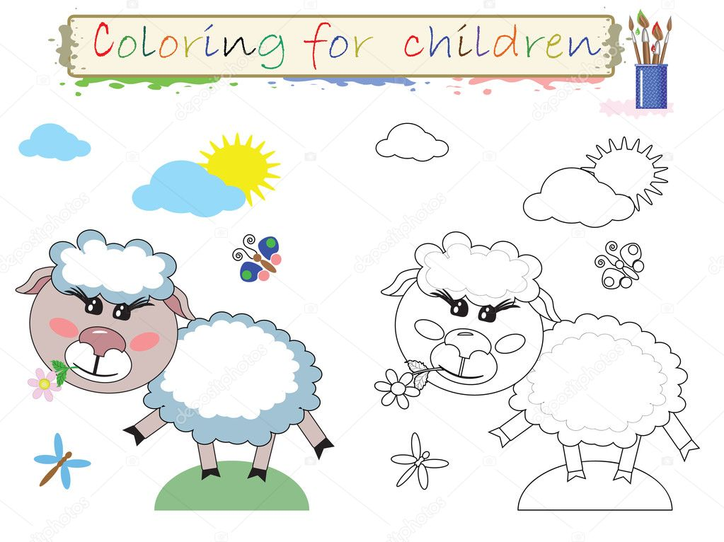 para colorear para niños — Foto de stock © Olaj775 #8855805