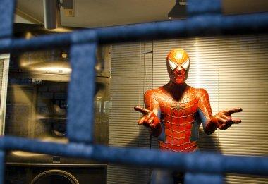 Spiderman. Hero helping in trouble.
