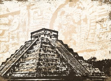 Antique Mayan Pyramid