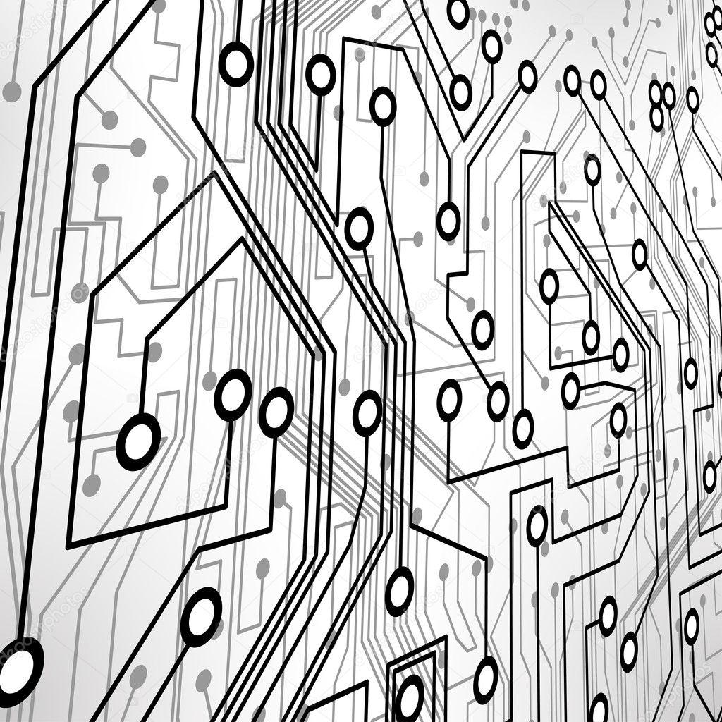 fond de vecteur de circuit imprimé — Image vectorielle majcot © #8453694