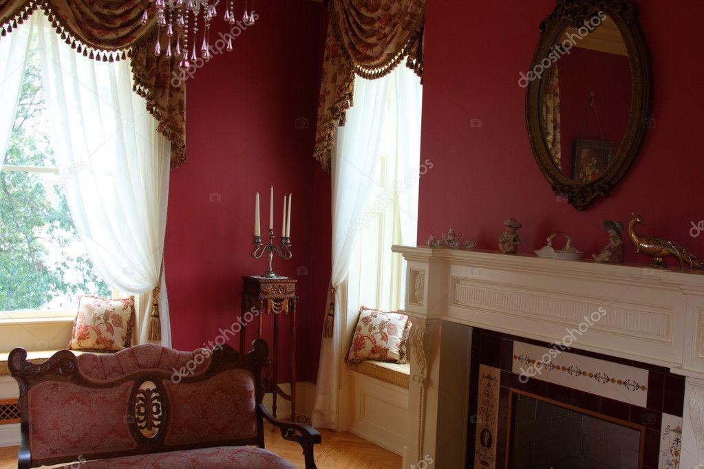 Interieur decoratie in oude victoriaanse charme stijl gedaan