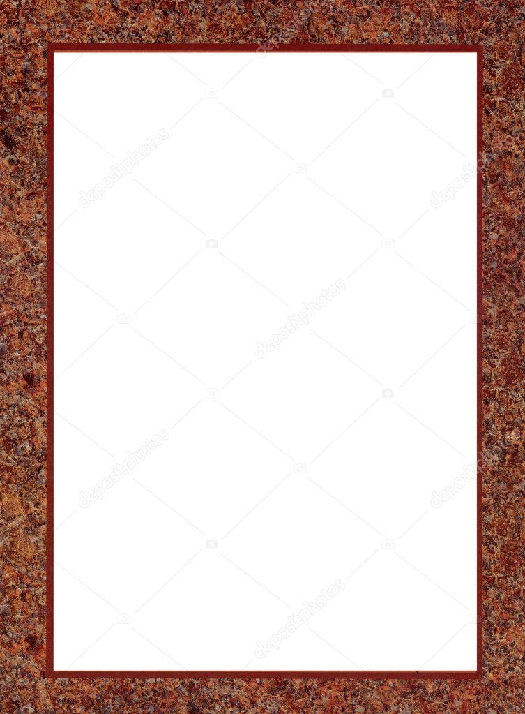marco de papel aislado de estera — Foto de stock © alisbalb2 #9983547