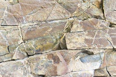 Stone rock with cracks