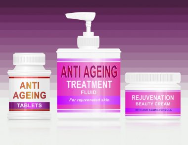 Anti ageing concept.