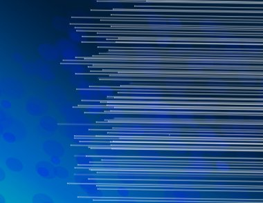 Blue fiber optic abstract.