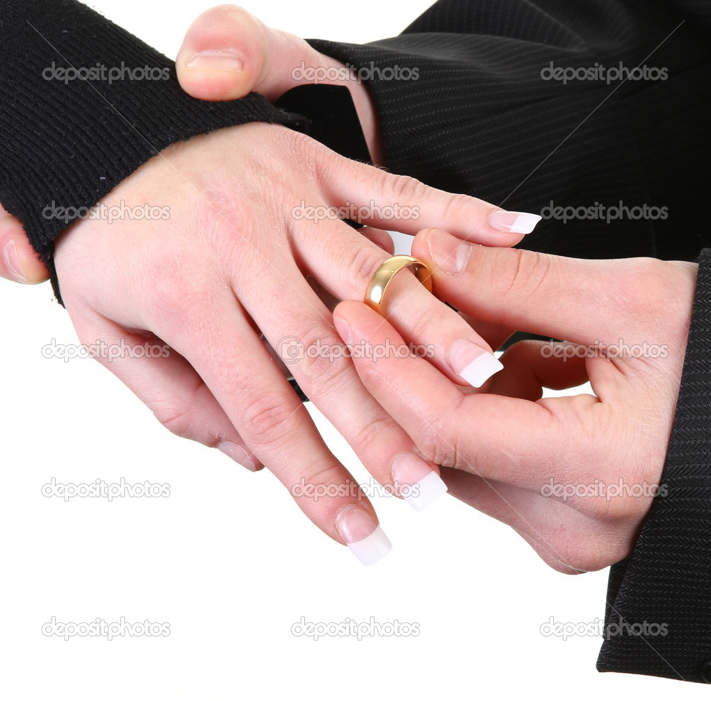 Placing the ring — Stock Photo © mscates176 #8198862