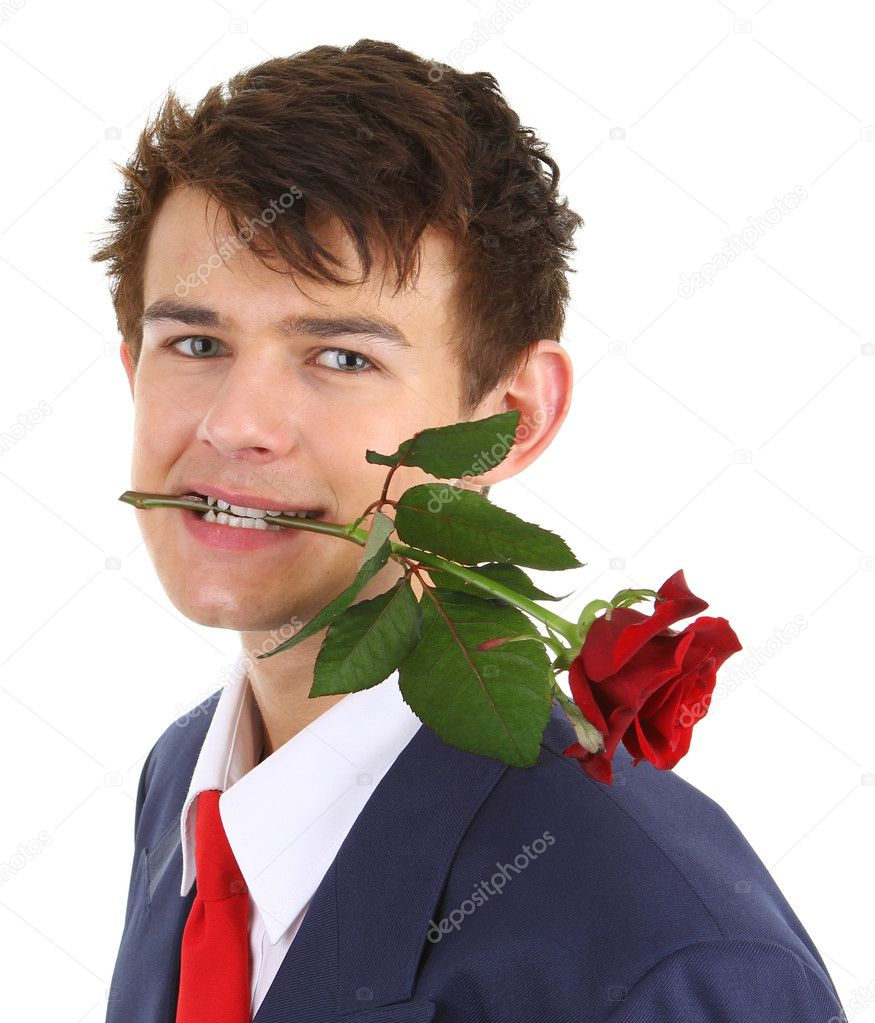 Nude guy with rose 15