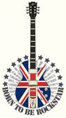 Fotografia francobollo nato rock star