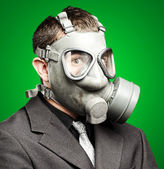 Photo Soldier with gas mask