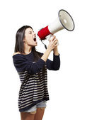 Photo Woman with a megaphone