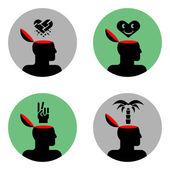 Photo Icons of head
