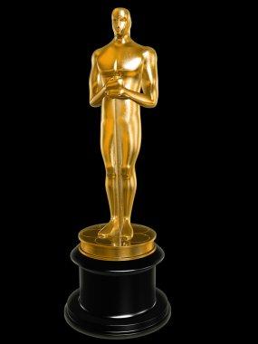 Oscar on black