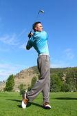 Fotografie mladý golfista