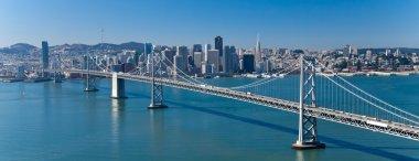 San Francisco Panorama with Bay bridge stock vector