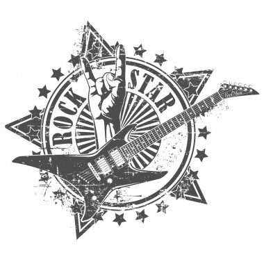 Rock star stamp