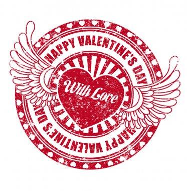 Rubber stamp Happy Valentine's day