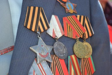 Victory Day. Fighting awards of the veteran.