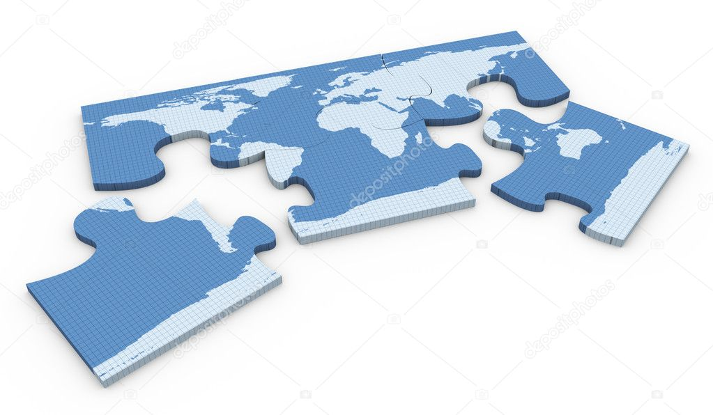 3d world map puzzle stock photo nasirkhan 9087770 3d render of world map puzzle on white background photo by nasirkhan gumiabroncs Images