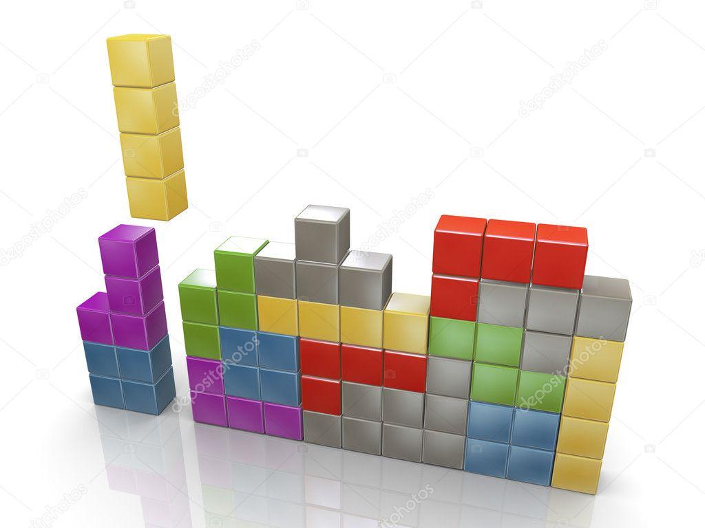 Imagenes Tetris 3d 3d Juego De Tetris Clasico Foto De Stock