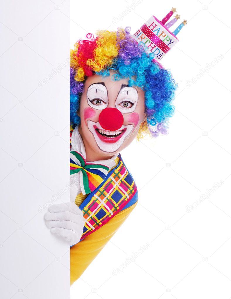 Happy Friendly Kid Clown