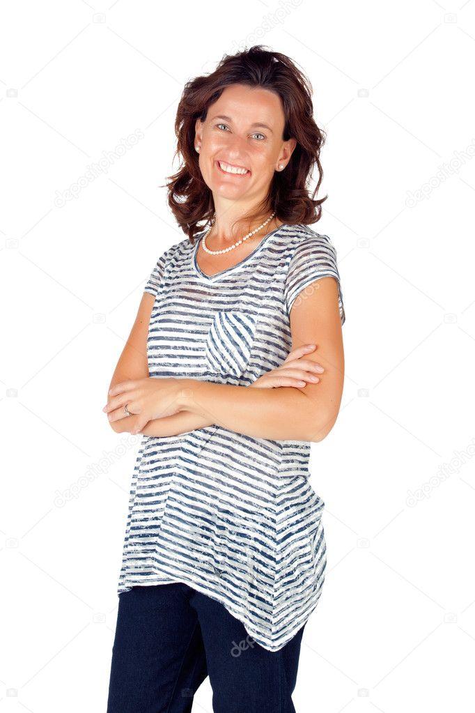 De Años En La Parte Superior 30 Mujer Pantalones Con Rayas Y JF1cTlK