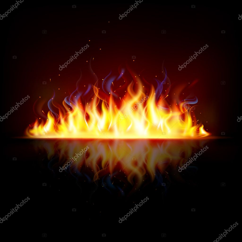Glowing Fire Flame