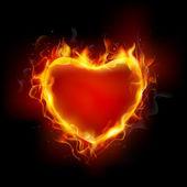 égő szív