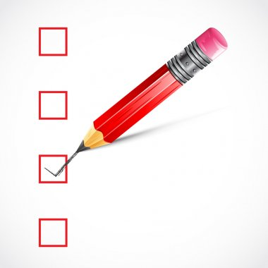 Pencil ticking Check Box