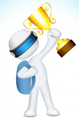 3d Man with Trophy