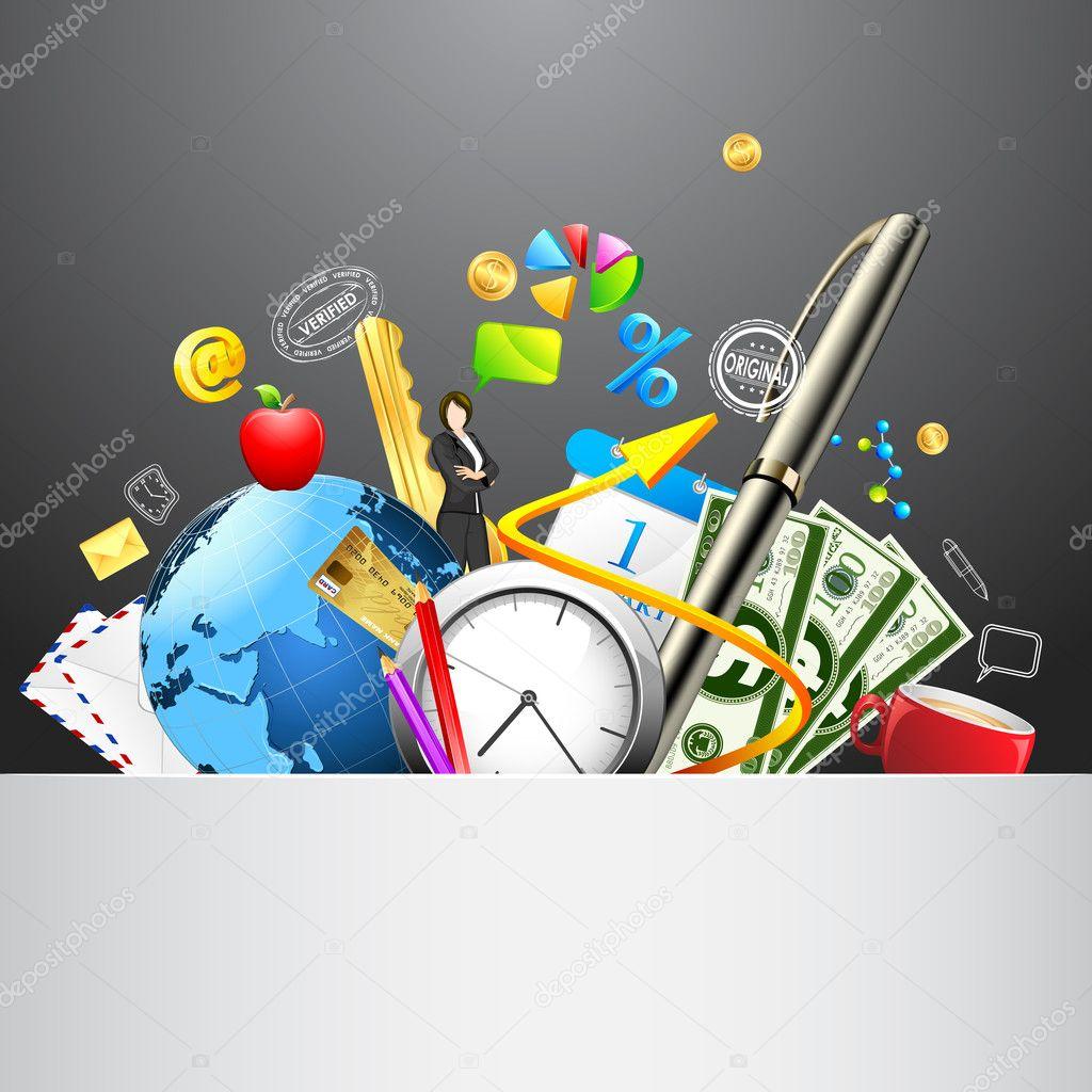 Material de oficina vector de stock vectomart 9267293 for Material de oficina precios