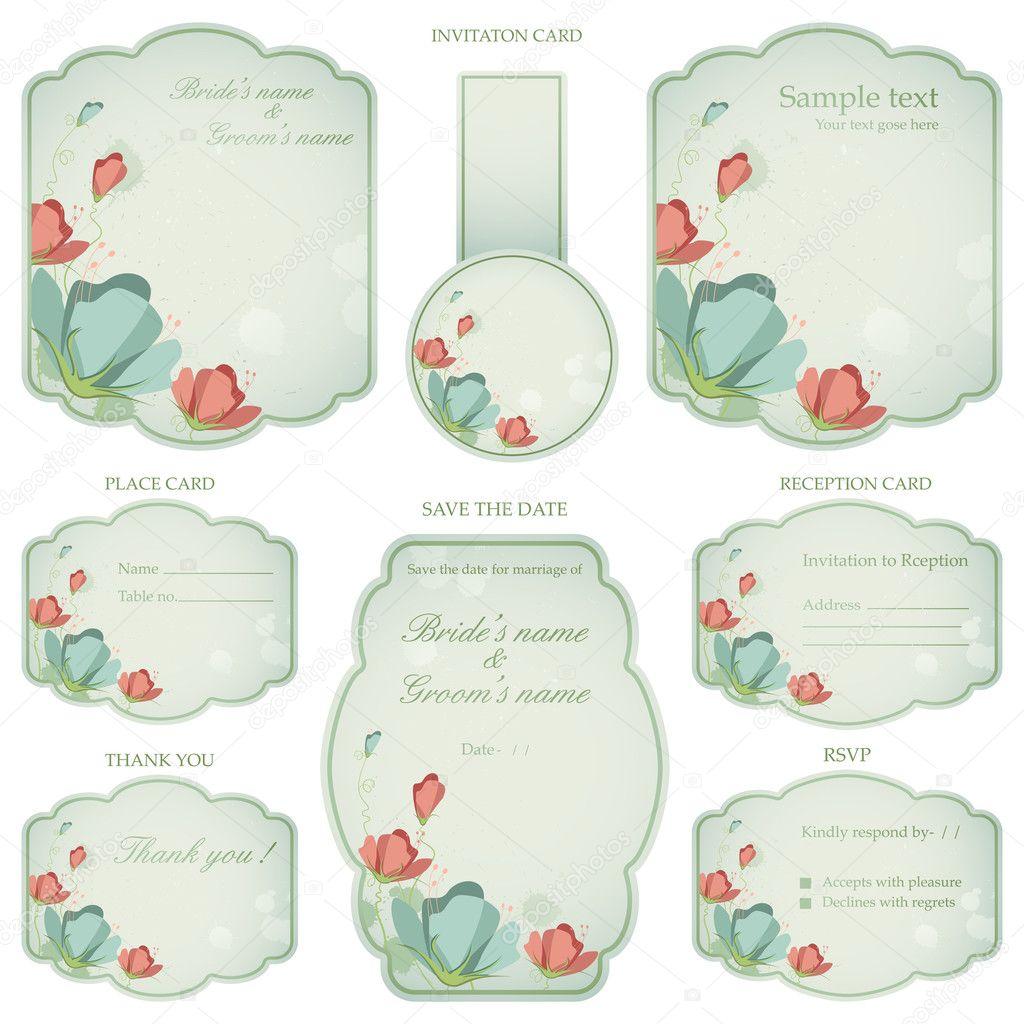 Wedding reception invitation card stock vector vectomart 9568653 wedding reception invitation card stock vector stopboris Image collections