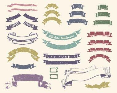 Vintage ribbons set