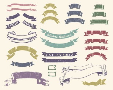 Vintage ribbons set