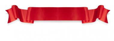 Elegance red ribbon banner