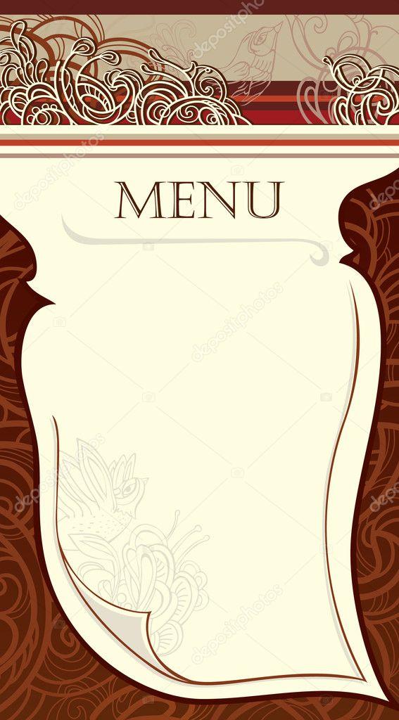 blank menu design - 443×800