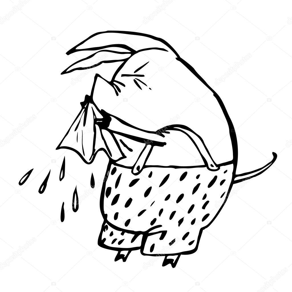 Imágenes Resfriado Para Colorear Cerdo Estornuda En Un