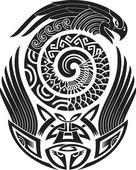 Kígyó-madár tetoválás tervezés