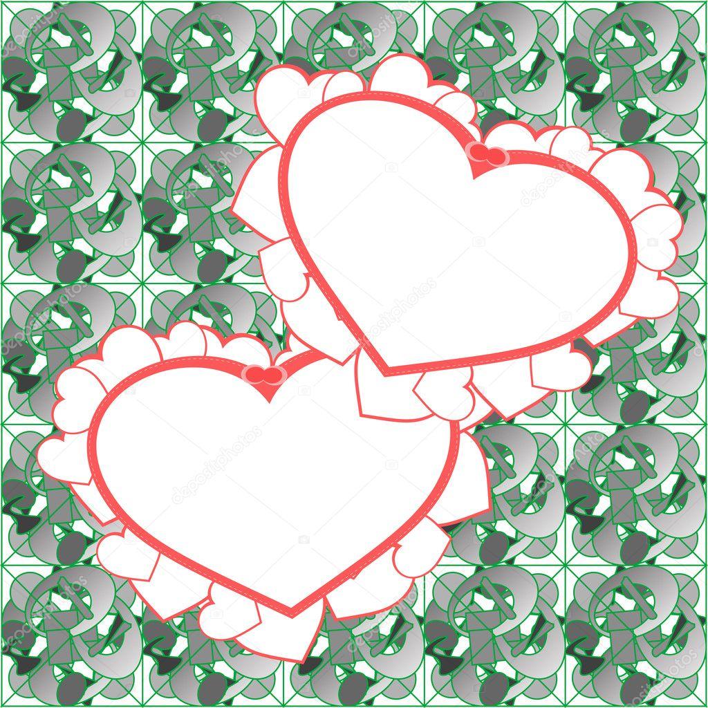 Two heart background vector design — Stock Vector © fotoscool #10192548