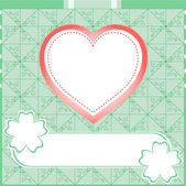 Photo Graffiti love heart. Wedding green vector background
