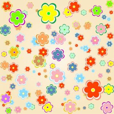 Cute artistic flower wedding background