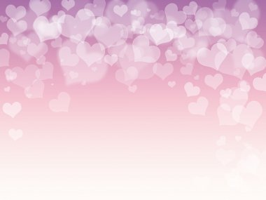 St Valentine pink heart shape on purple white background